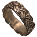 Anneau torsadé tréssé d'inspiration Viking