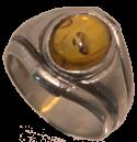 Jonc cabochon d'ambre d'inspiration viking