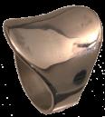 Bague ronde concave